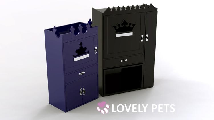 Design produit d'un meuble pour chien et chat. Designer mobilier sur Orléans