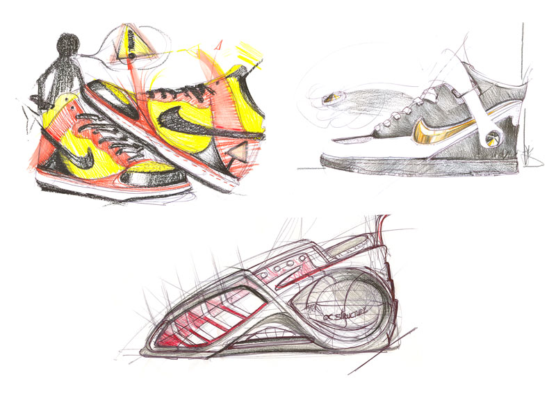 Croquis d'intentions design produit basket orléans