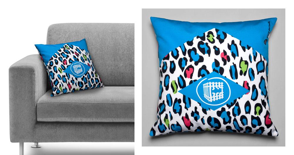 Coussin déco design from zoo créateur orléans pour marque